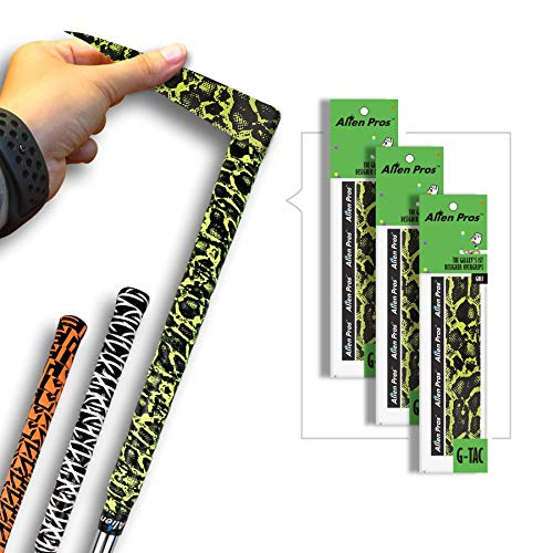 Alien Pros Golf Grip Wrapping Tapes (3-Pack) - Innovative Golf Club Grip Solution - Enjoy a Fresh New Grip Feel in Less Than 1 Minute (3-Pack, Jaguar)