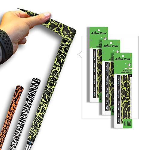 Alien Pros Golf Grip Wrapping Tapes – Innovative Golfschläger-Grifflösung – Genießen Sie ein frisches neues Griffgefühl in weniger als 1 Minute, 3er Pack Eidechse