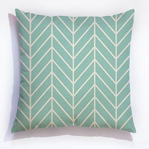 Verde menta Chevron funda almohada espiga manta decorativa