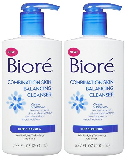 Biore Combination Skin Balancing Cleanser Deep Cleansing 6.77 oz (Pack of 2)