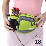 Innokids Hiking Waist Pack with Water Bottle (Not Included) Holder on Right Side,Outdoor Sports Waist Bag,Running Belt,Lumbar Fanny Pack for Walking Jogging Cycling Camping Travel(Fruit Green)