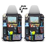 """Protezione Sedile Auto,2pcs Organizzatore Sedile Posteriore Auto Proteggi Impermeabile Organizer Bambino per Sedile Auto con Multi-Tasca Protezione Sedile Auto Bambini Supporto per Tablet 12"""""""