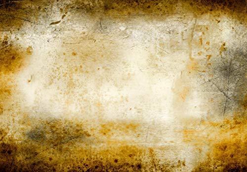 wandmotiv24 Fototapete Mauer Vintage Stein XXL 400 x 280 cm - 8 Teile Fototapeten, Wandbild, Motivtapeten, Vlies-Tapeten alte Mauer, Gelb M1420