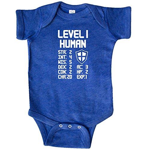 inktastic Level 1 Human Infant Creeper 6 Months Retro Heather Royal 28f5f