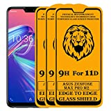 Kreatick 11D Edge to Edge Tempered Glass Screen Protector Compatible with Asus Zenfone Pro M2 [Pack of 3] Without Installation kit (Black)