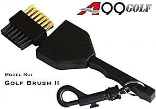A99 GOlf 2 Sided Golf Brush Club Cleaning WITH A RETRACTABLE REE with a shell