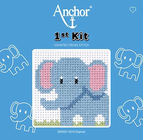 Anchor - Kit de Punto de Cruz para Principiantes, diseño de Elefante