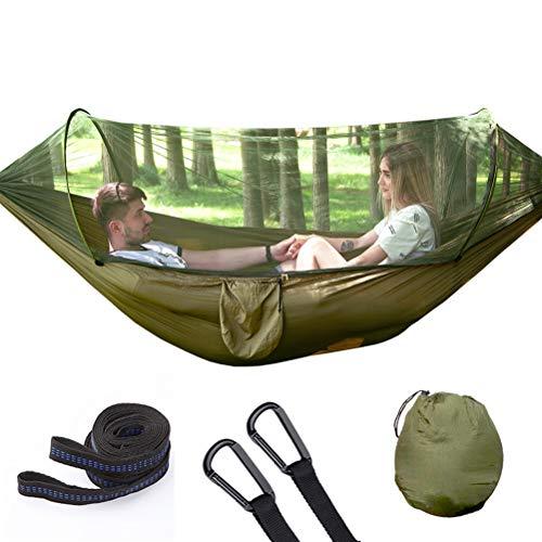 Suszian Hängematte, tragbare Abdeckplane, Moskitonetz, Zelt-Hängematte, Schaukel, schnell zu öffnen, leichte Hängematte für Outdoor-Camping