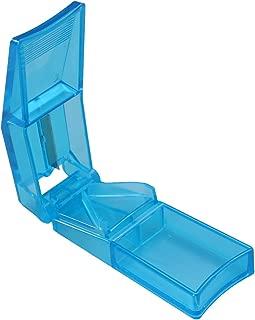 SUPVOX Cortador de Pastillas Caja de Compartimiento de Almacenamiento Divisor Titular de Medicina Azul