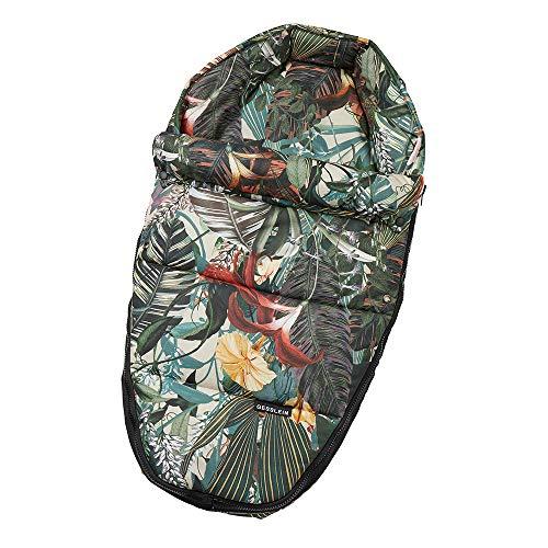 Gesslein Baby-Nestchen, 021 Urwald, warmes Kuschelnest/Fußsack für Neugeborene und Säuglinge, für Kinderwagen Wanne, Babyschale, Bettchen und Wiege, inkl. Gurtschlitze