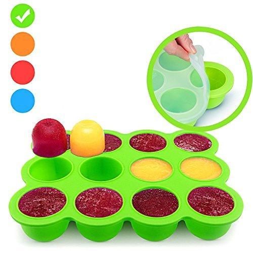 congélation bébé Food Rangement Nourriture - Baby Récipient en silicone avec couvercle solide Food Container pour Sevrage - Sans BPA & Approuvé par la FDA