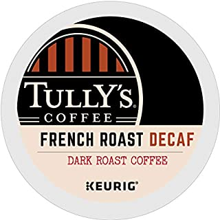 Tully's Coffee, French Roast Decaf, Single-Serve Keurig K-Cup Pods, Dark Roast..