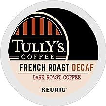 Tully's Coffee, French Roast Decaf, Single-Serve Keurig K-Cup Pods, Dark Roast..