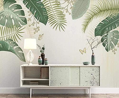 Planta tropical Palm Fregadero en blanco Rn Wallpaper 3D Nonwoven Wall Pictures Decoración de la pared Pared Pintado Papel tapiz 3D Decoración dormitorio Fotomural sala sofá mural-430cm×300cm