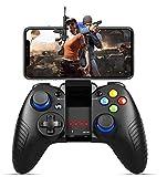 Controller per Android Wireless, PowerLead Gamepad Joystick Wireless con Staffa Retrattile Compatibile per iOS (Versione 11.3-13.3) Android Telefono Tablet