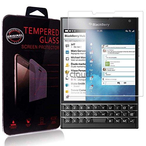 Ycloud Panzerglas Folie Schutzfolie Bildschirmschutzfolie für Blackberry Passport AZERTY screen protector mit Festigkeitgrad 9H, 0,26mm Ultra-Dünn, Abger&ete Kanten
