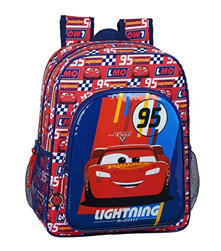 Safta 612011640 Mochila Junior Adaptable Carro Cars  Multicolor