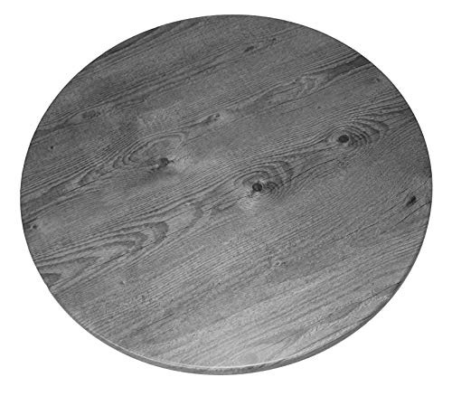 serladur Tischplatte Dekor Timber GRAU 70 cm rund, wetterfest für Garten, Terrasse, Balkon in Gastronomiequalität Ersatztischplatte Bistro Tisch Werzalitverfahren