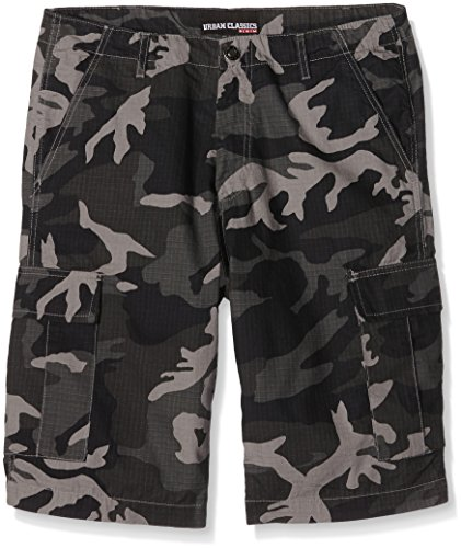 Urban Classics Camouflage Cargo Shorts Homme, Multicolore (Urban Camo 378), 36 cm