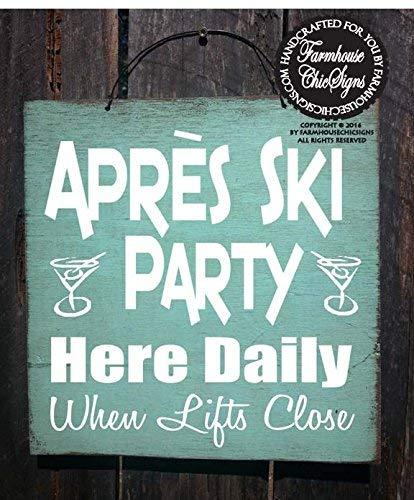 Ced454sy Geschenk Apres Ski Party Schild, Apres Ski, Ski-Dekoration, Winterdekoration, Mountain Lifestyle