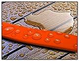 Schleppleine 5m – Neon-Orange – zugfeste, schmutz- und wasserabweisende Hundeleine mit zwei Karabinern - 5