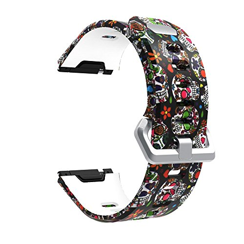 Deng Xuna Verstellbares Silikon Neuheit Lustig Muster Ersatz Uhrenarmband Replacement Sport SmartWatch Armband für Fitbit Ionic (M)