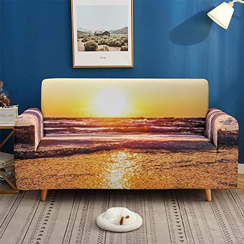 Elastischer Sesselbezug Stretch Sofa-Überwürfe,Wohnzimmermöbel Schutzbezug Sessel Stuhlbezug, Sofabezug elastisch rutschfest-5_3-Sitzer 190-230cm