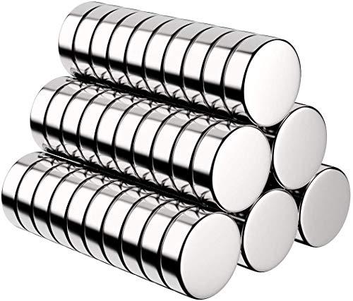 BUSATIA Magnete, 60 Stück Rund Magnets Mini Magneten für Magnettafel, Whiteboard, Magnetboard, Pinnwand, inkl. Aufbewahrungs Box