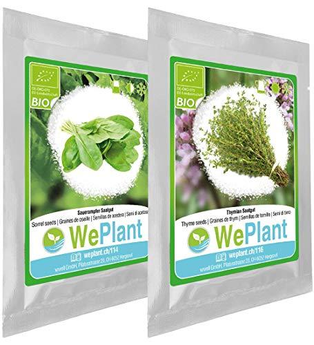 BIO Oseille & Thym - Graines de plantes aromatiques/Intérieur & Extérieur