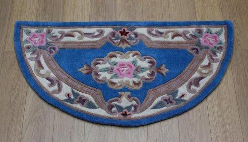 Rugs With Flair Lotus Premium Aubusson Azul Lana Alfombra Oriental 67X 127