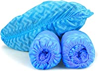Einmal Schuhüberzug aus blauer Polyethylenfolie, rutschfest, atmungsaktiv, kann nicht leicht zerrissen werden. können in Gartenarbeiten, Reisegepäck, Labors, Kindertagesstätten, Heim-, Museumsbesichtigungen, Gartenpartys, Fabriken und Einzelhandelsge...