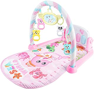 AGAWA Baby Toys,AGAWAMusic Carpet,Baby Kick and Play Mat with Bear Toys and Mirror Baby Light and Music Carpet