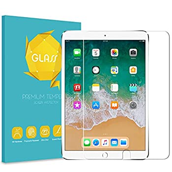 Fintie Tempered Glass Screen Protector for New iPad 8th Gen  2020  / 7th Generation  2019  10.2  & iPad Air 3 10.5  2019 & iPad Pro 10.5  2017 - Anti Scratch Premium HD Clear 9H Hardness