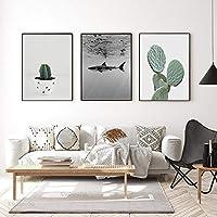KDSMFA抽象芸術絵画現代観光風景キャンバス絵画、リビングルームの家の装飾のための人気の壁アートポスター/ 50x70cmx2(フレームなし)
