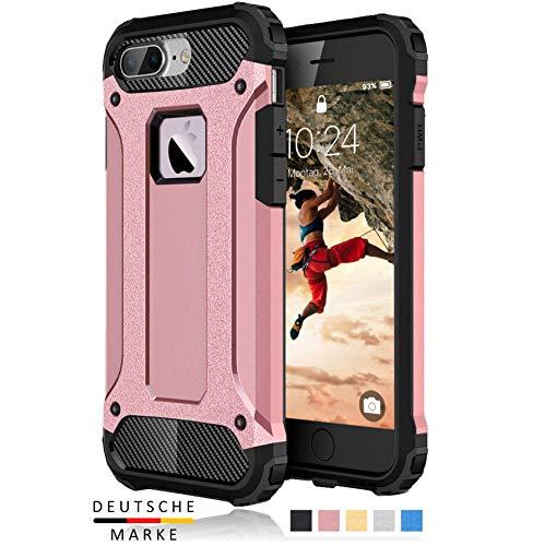 BYONDCASE iPhone 8 Plus Hülle Rosa, iPhone 7 Plus Hülle [Handyhülle iPhone 8 Plus Panzer Outdoor Case] iPhone 7 Plus Handyhülle Hardcase Ultra Slim kompatibel mit dem iPhone 7 & 8 Plus