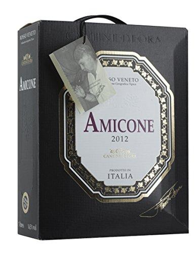 4x AMICONE ROSSO VENETO IGT BAG IN BOX 3L Incl. Goodie von Flensburger Handel