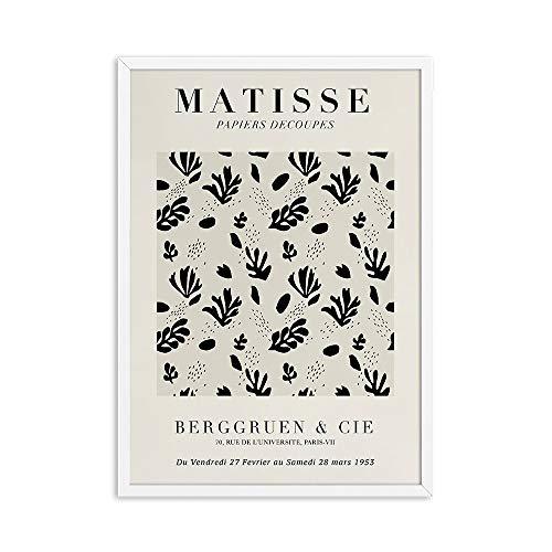 Matisse donna schizzo astratto curva geometrica poster tela pittura colorata casa senza cornice decorativa tela pittura C 60x80cm