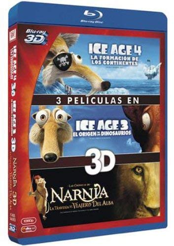 3D Collection: Ice Age 3/ Ice Age 4 / The Chronicles of Narnia: The Voyage of the Dawn Treader ( Ice Age: Dawn of the Dinosaurs / Ice Age: Continental Drift / T [ Spanische Import ] (Blu-Ray)