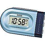 Casio Collection Despertador, Acero Inoxidable, Azul, 10x4x6 cm