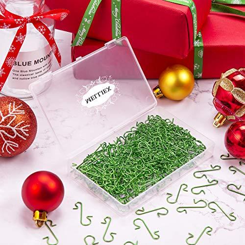 MELLIEX 240 Piezas Gancho de /árbol Navidad Mini Ganchos Colgar Ganchos de Metal para Colgar Adornos de /árboles de Navidad Bolas de Navidad