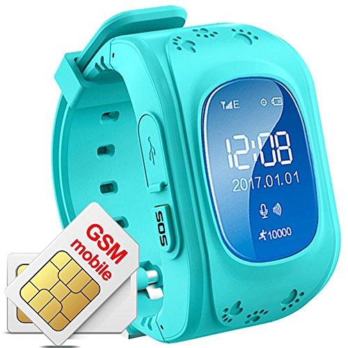 Reloj para Niños, TKSTAR Kids Smartwatch GPS Tracker con Localizador para Niños Niñas SIM Anti-perdida SOS Compatible con Android/IOS Smartphone BLU Q50