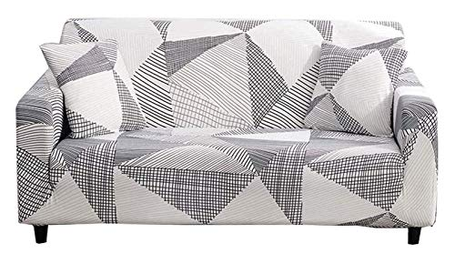 Chozan Pattern Sofa Slipcovers Stretch Printed Sofa Cover with 2 Pillowcases for 2 Seat Cushion Couch Furniture Pet Protector Spandex Cover L-Shape Available(Geometry, Loveseat)