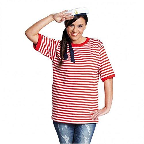 Rubies 14864-7 - Camiseta de Rayas de Manga Corta, Color Rojo y...