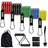 Resistance Bands Set for Men Women, Workout Bands, Exercise Bands Perfect Muscle Builder for Arms, Back, Leg, Chest, Belly, Glutes