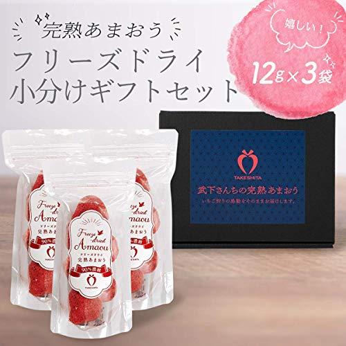 形も味もそのまま楽しめる!完熟あまおう【フリーズドライ小分けギフトセット】(12g×3袋)