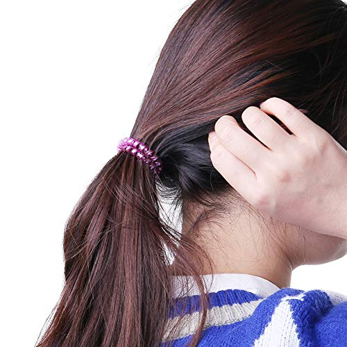 Angelikashalala - Set di 20 elastici per capelli a forma di cuore a forma di stella