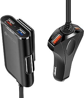 Ewise シガーソケットチャージャー 後部座席充電 Quick Charge 3.0 最大出力 5V/12A