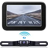 Wireless Backup Camera with Monitor System 5'' LCD Wireless Monitor Rearview Revering Rear View Back up Camera for Backing Parking Small Car 12V Only eRapta