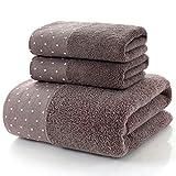 IAMZHL Toalla de baño de algodón Grande Toallas Gruesas Baño para el hogar Hotel para Adultos Niños Toalha de banho Servilleta de baño-Coffee2-70x140cm
