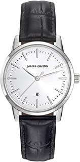 Pierre Cardin Womens Quartz Watch, Analog Display and Leather Strap PC901862F01